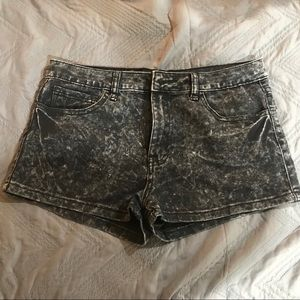 Gray denim shorts